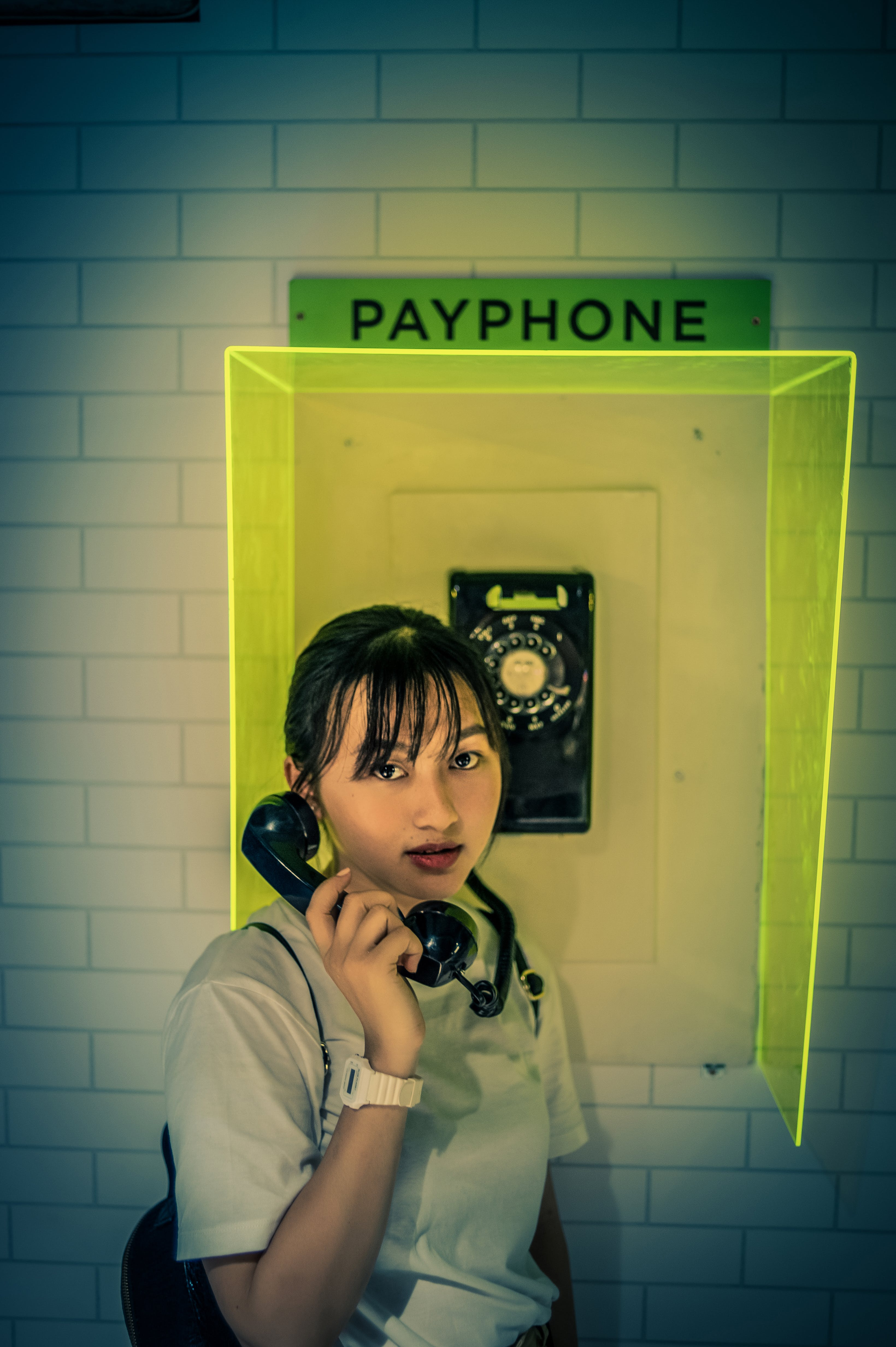 Woman at the Payphone