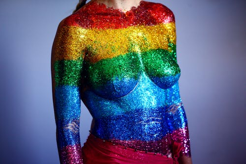 Multicolored Glittered Top