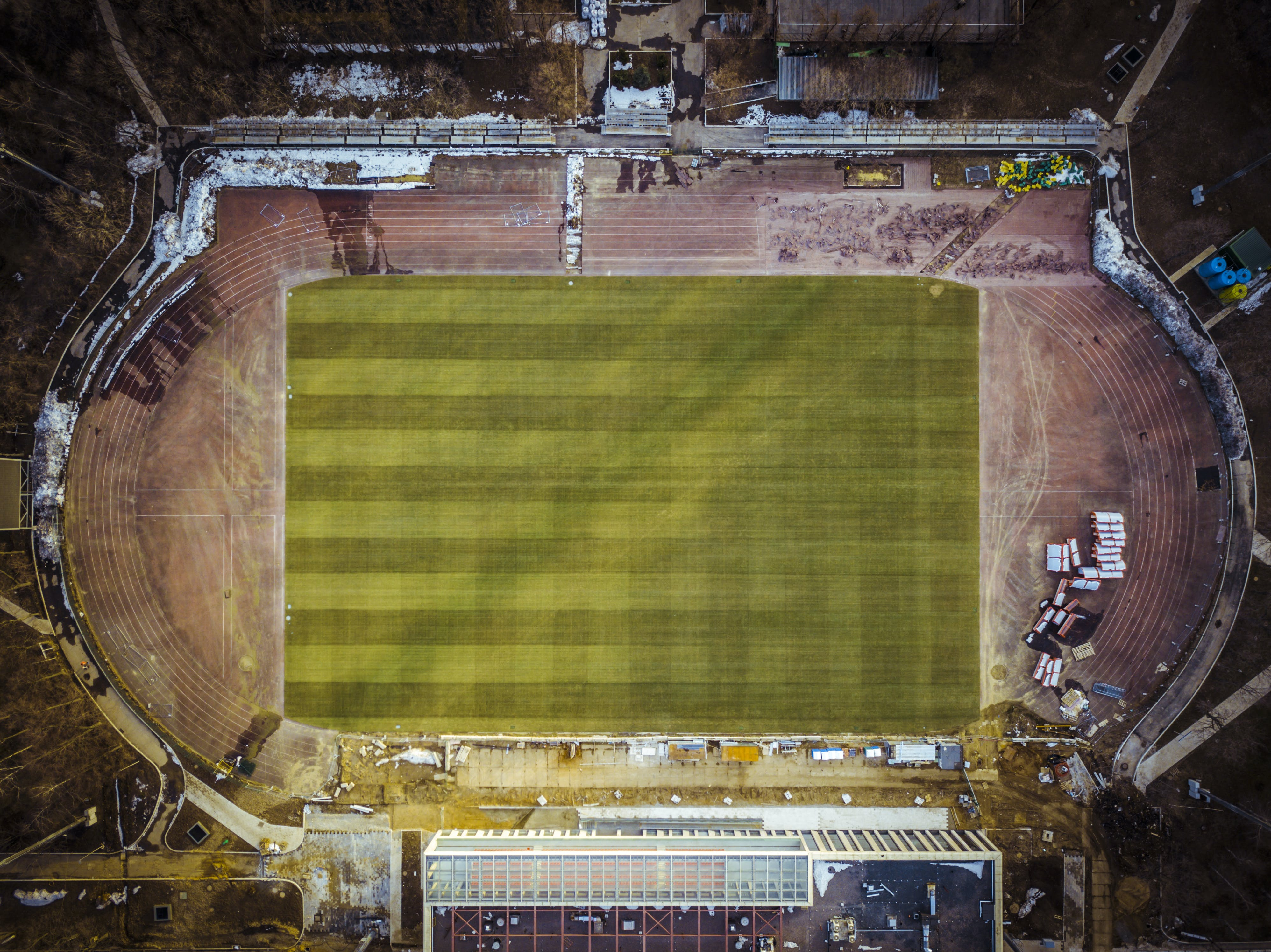 Aerial View Photography of Stadium