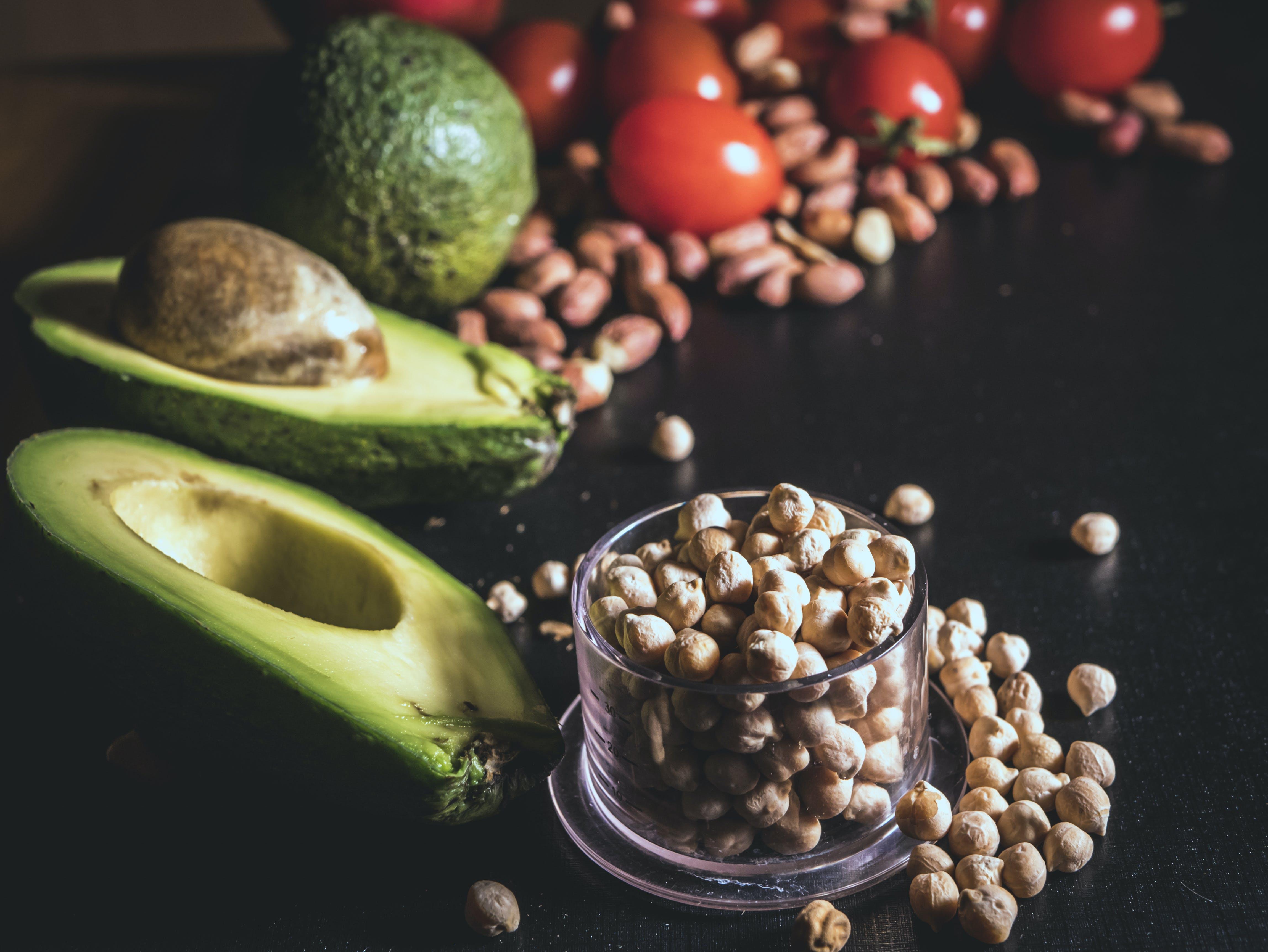 Avocado, Peanuts, and Toamtoes