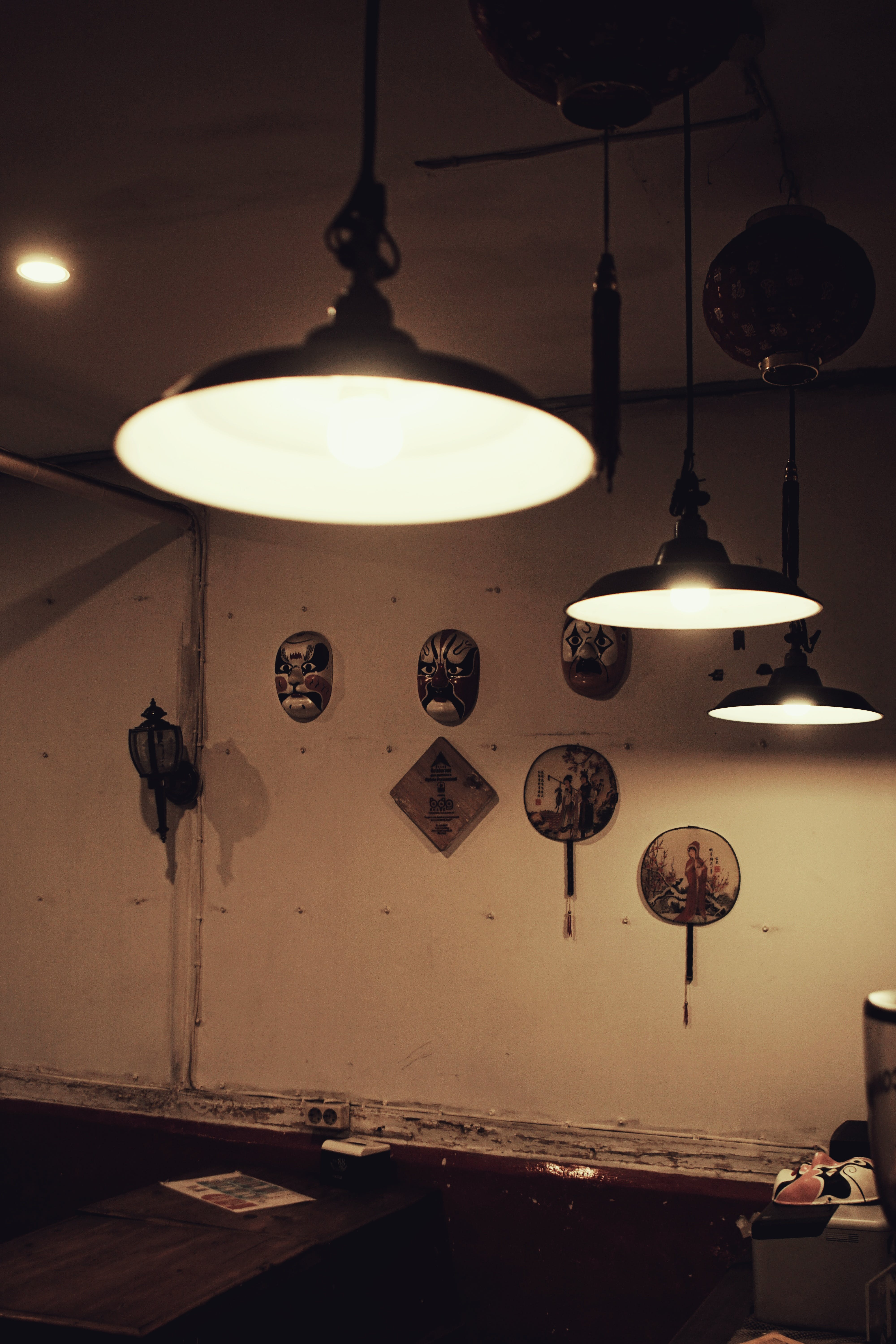 Free stock photo of mask, Chinese, coffee shop, interior design