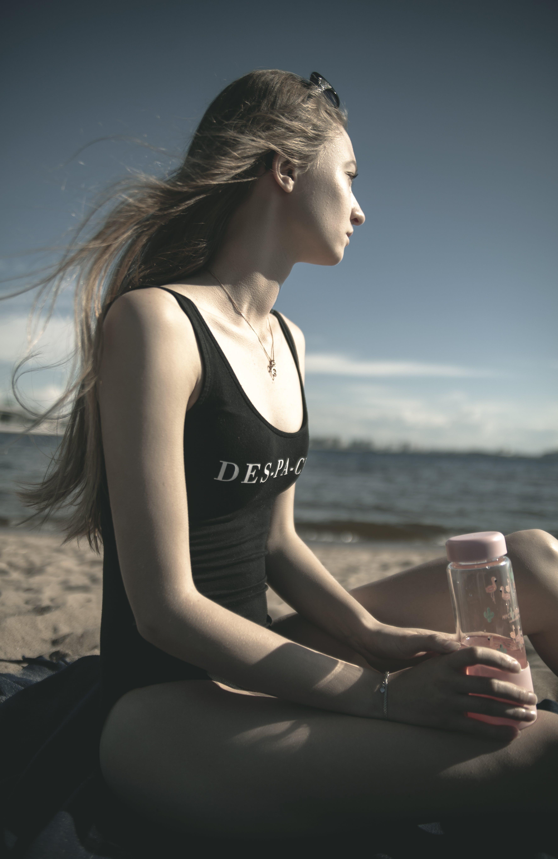 Free stock photo of beach, model