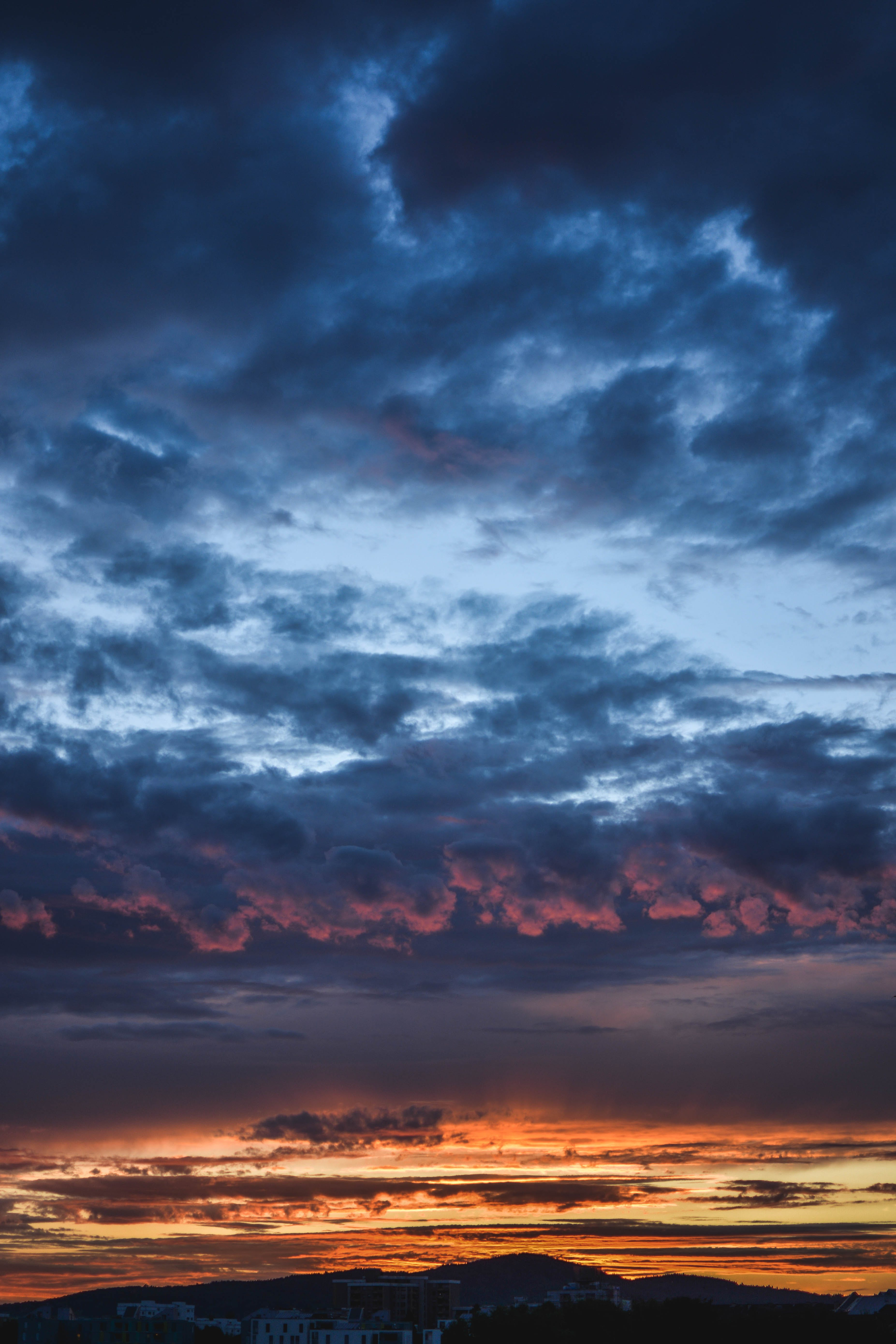 Scenic View of Clouds During Dawn