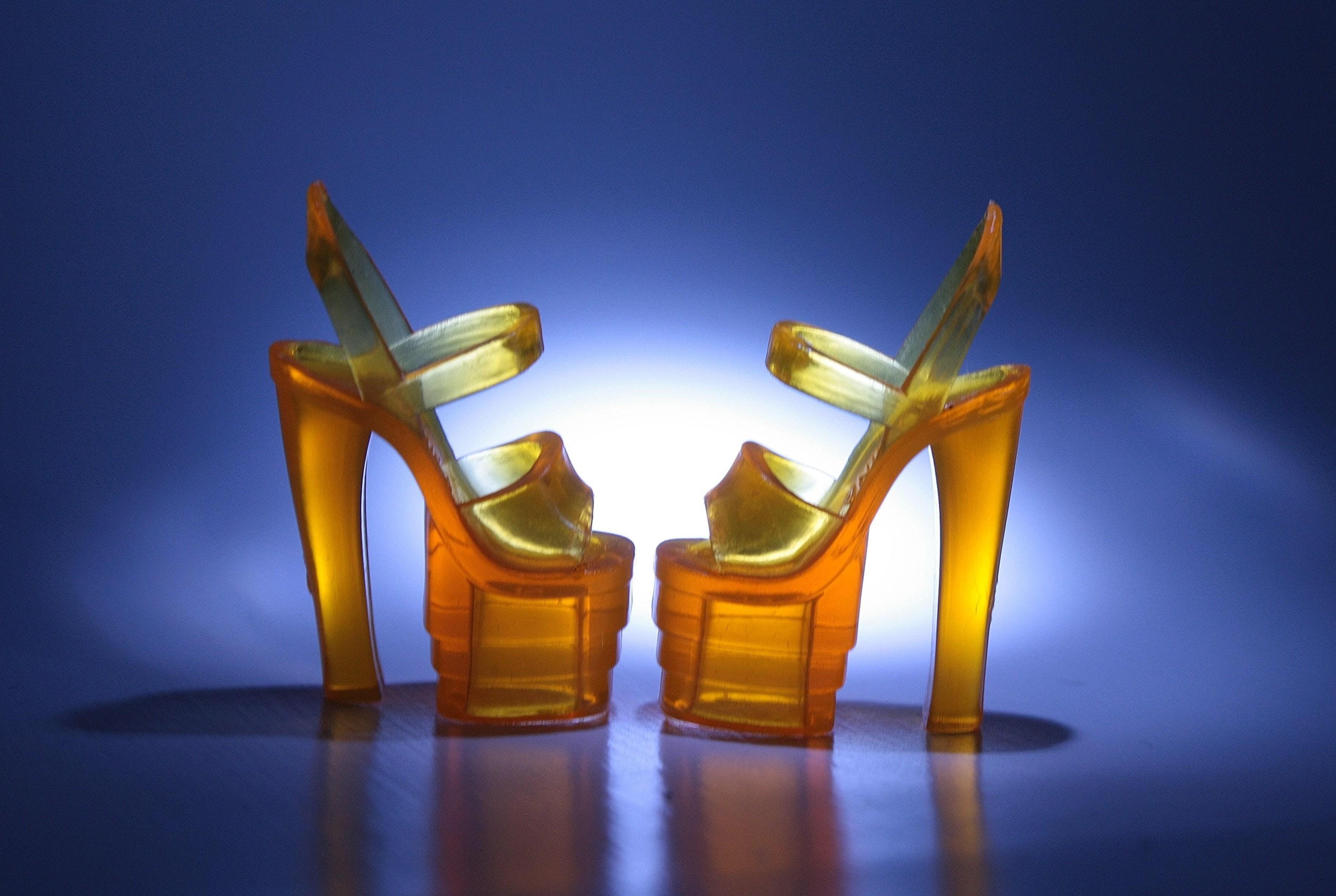 Free stock photo of orange shoes