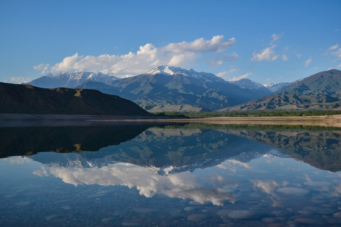 Reflective Photography of Mountain