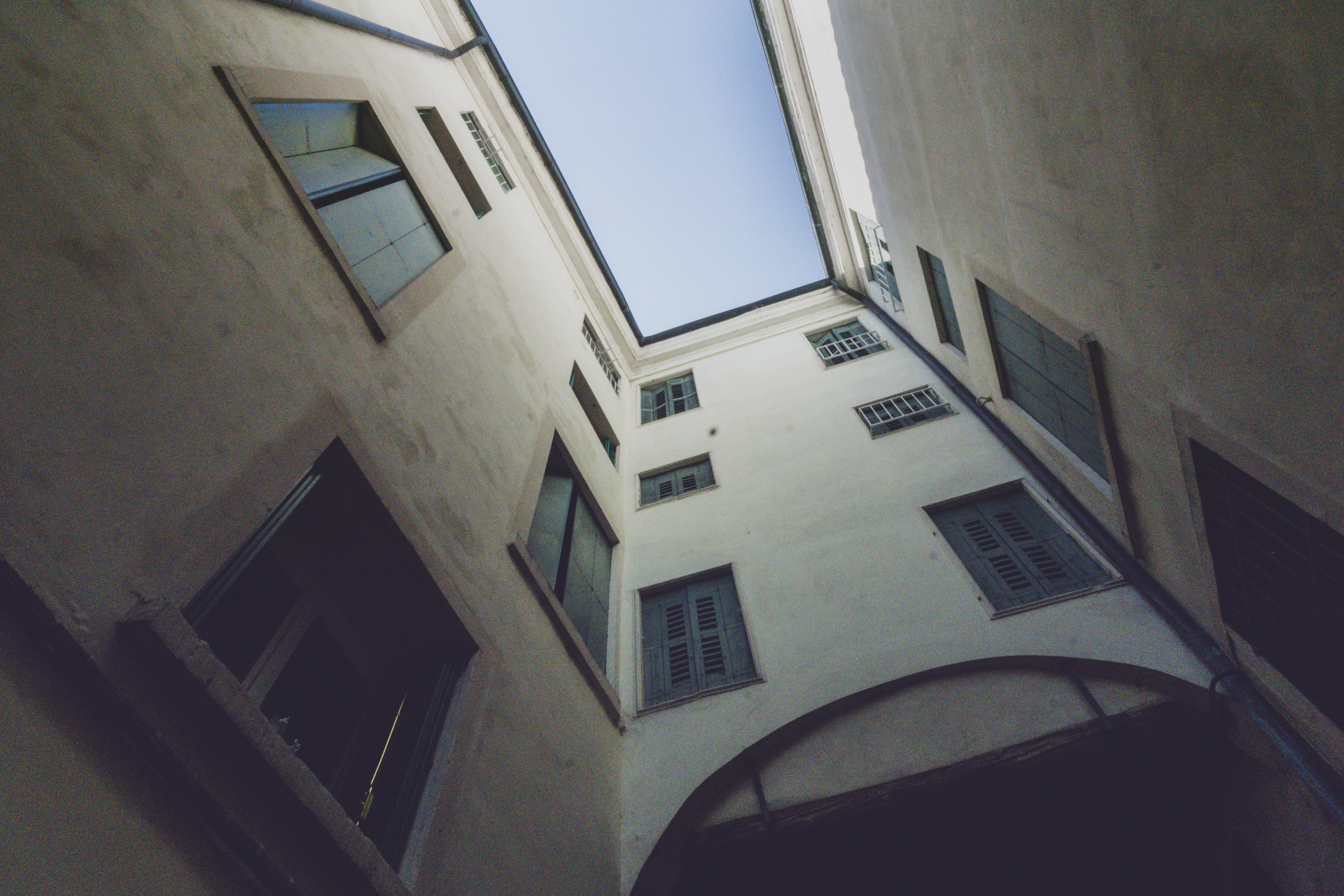 Worm's Eyeview of Building