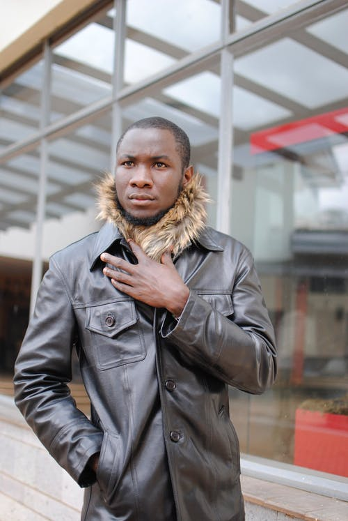 Ingyenes stockfotó afro-amerikai, álló kép, Bőr, bőrkabát témában