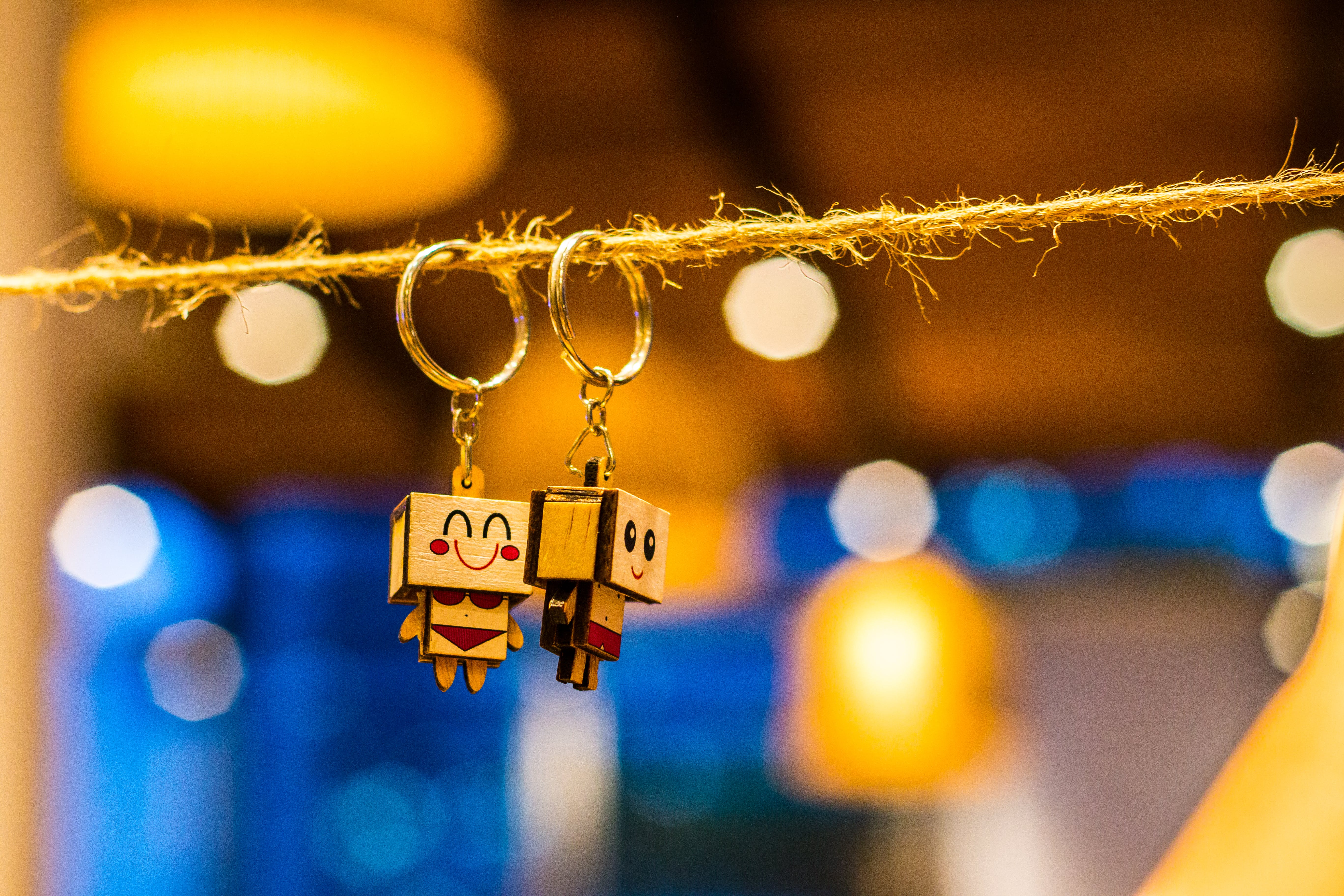 Shallow Focus Photography of Keychains