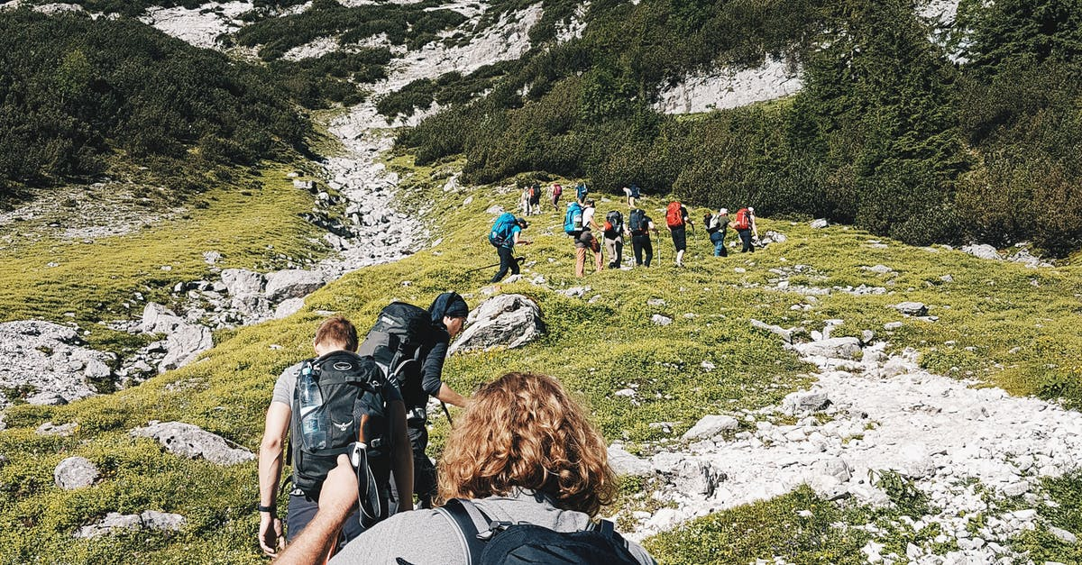 Group People Hiking on Hill · Free Stock Photo