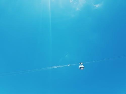 天空, 山, 索道, 纜車 的 免费素材照片