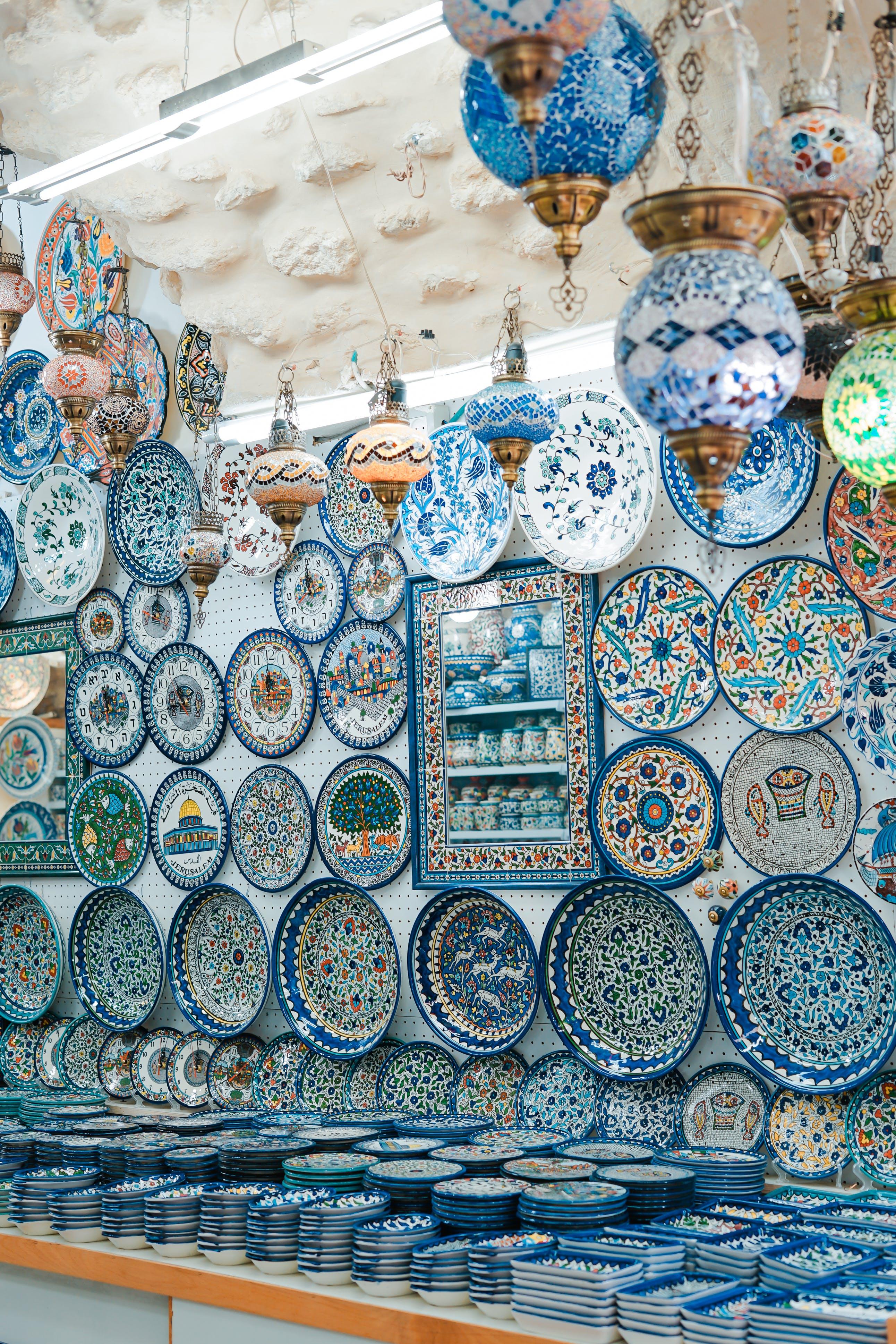 artesania, Asiàtic, blau