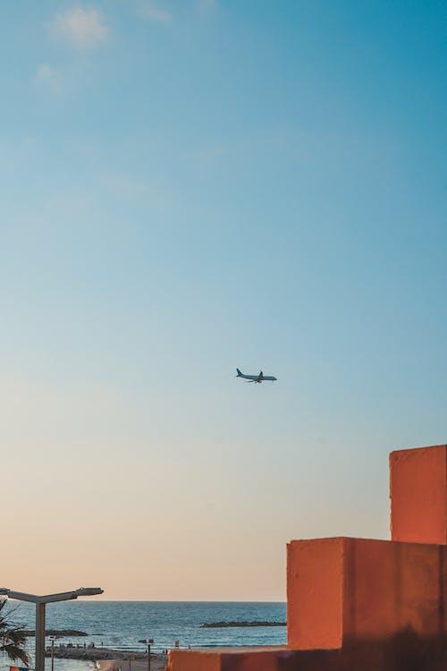 jasná obloha, let, letadla