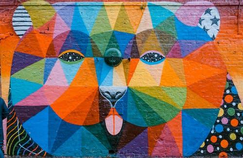 Kostenloses Stock Foto zu abbildung, allfarblori, artsy, backsteinmauer