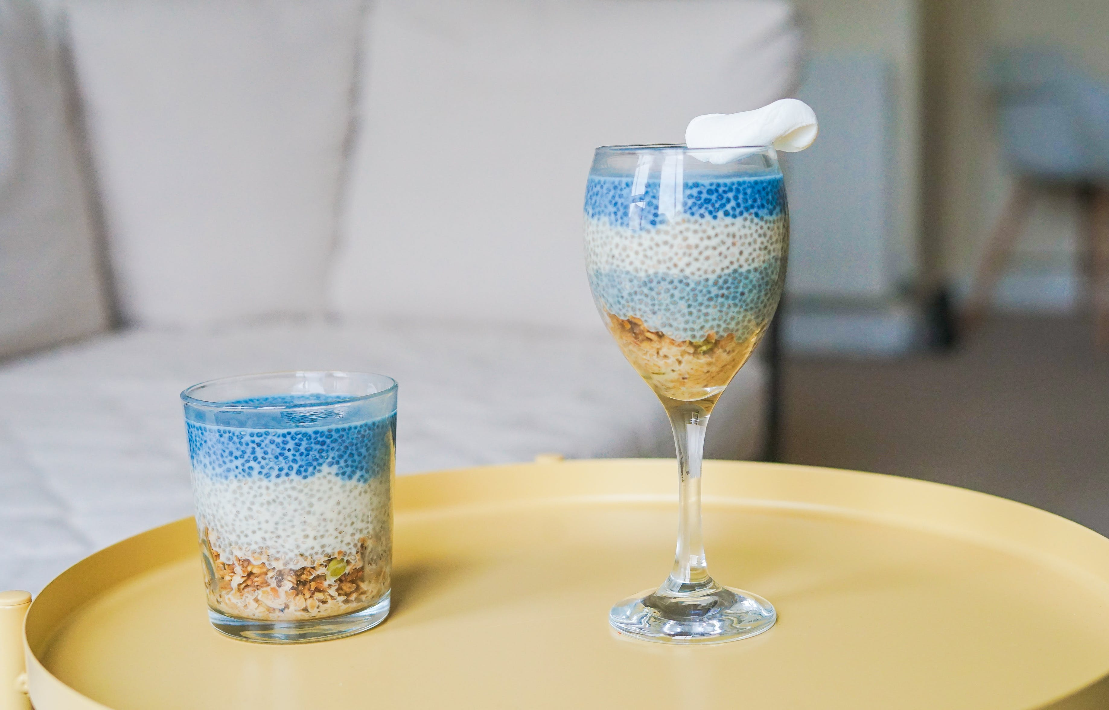 Two Clear Drinking Glasses