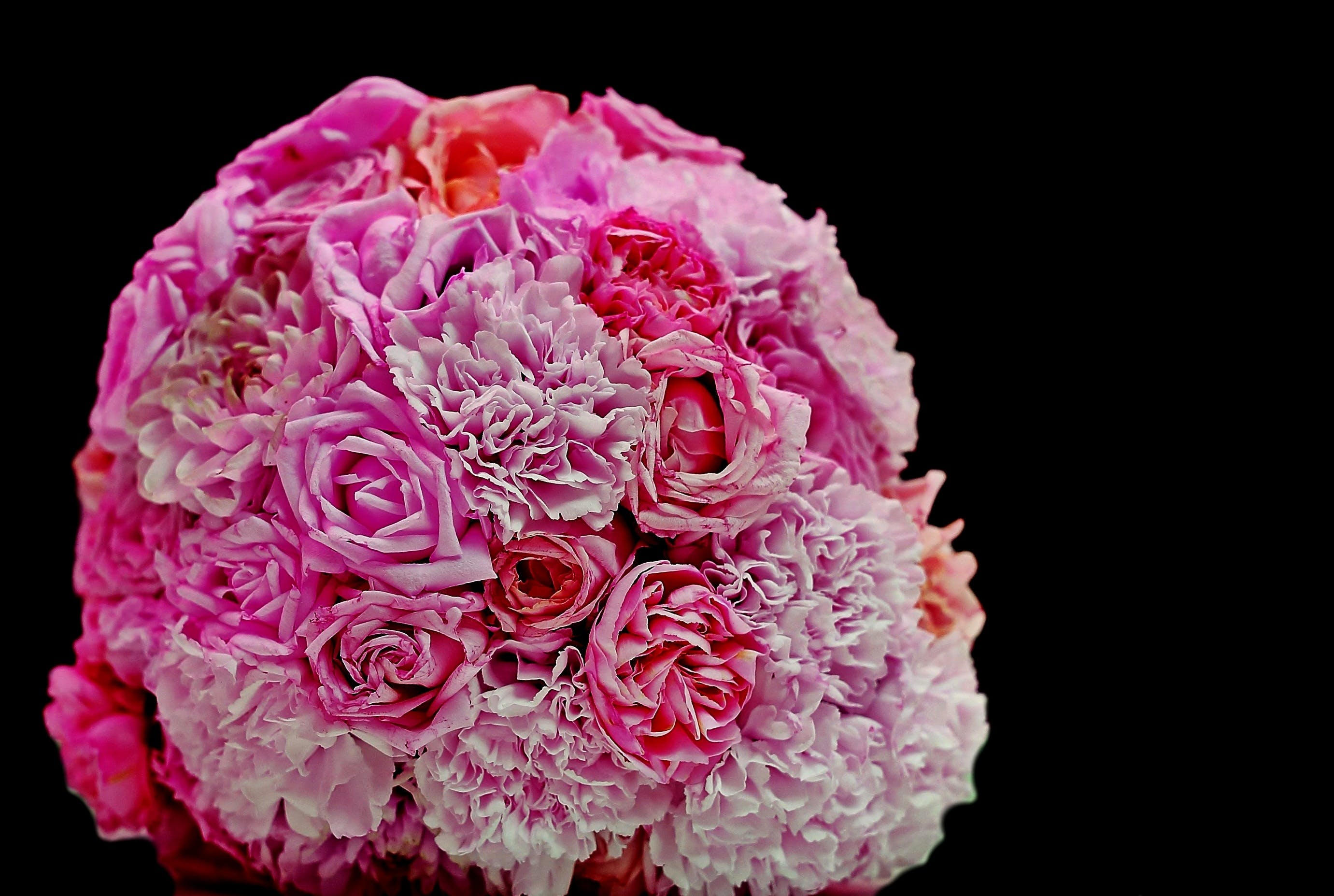 Pink White and Purple Flower Boquet
