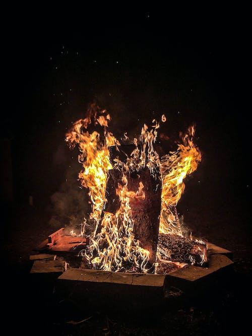 คลังภาพถ่ายฟรี ของ กองไฟ, การเผาไหม้, ความร้อน, ร้อน