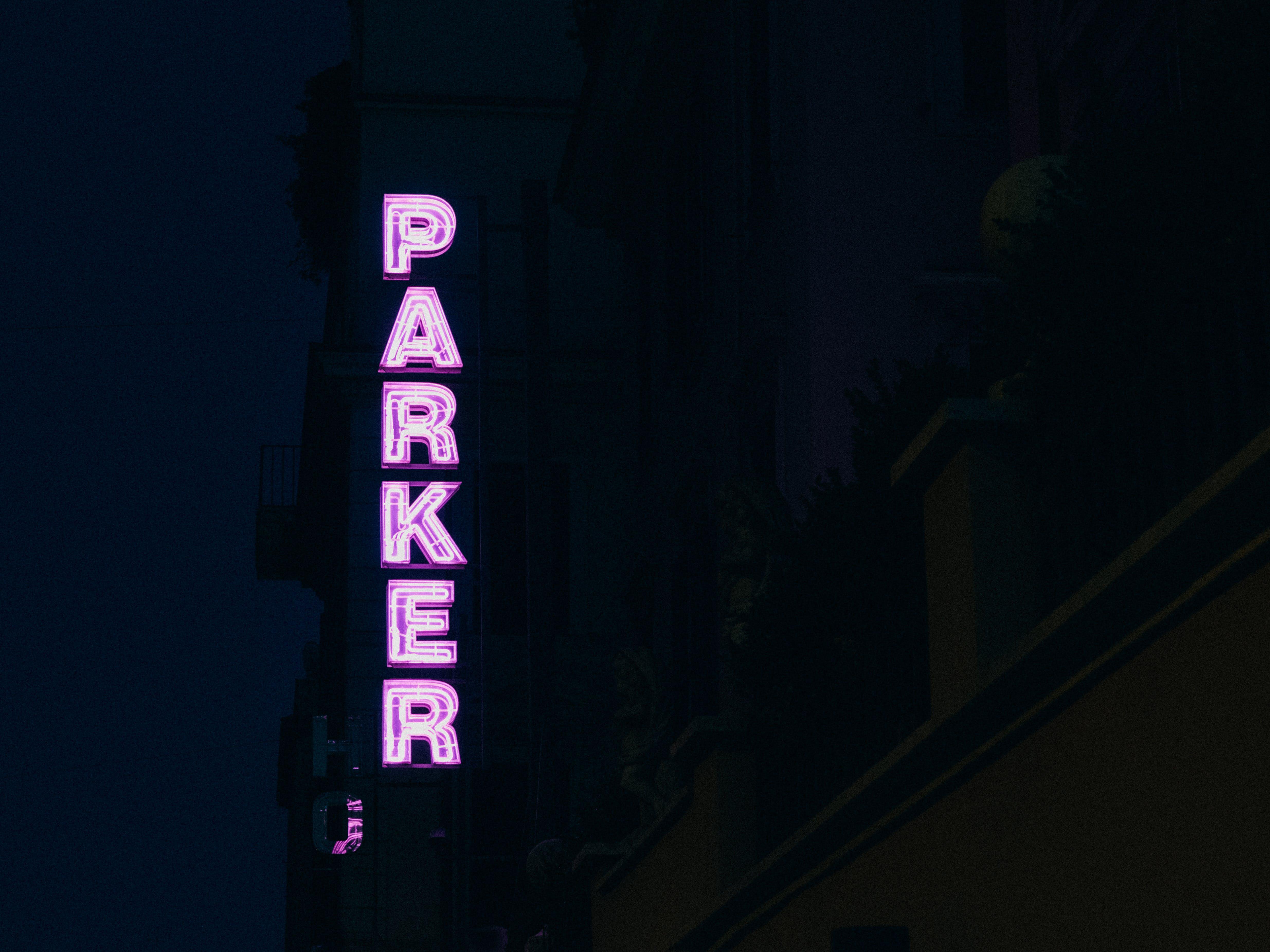 Kostenloses Stock Foto zu licht, nacht, schild, neon