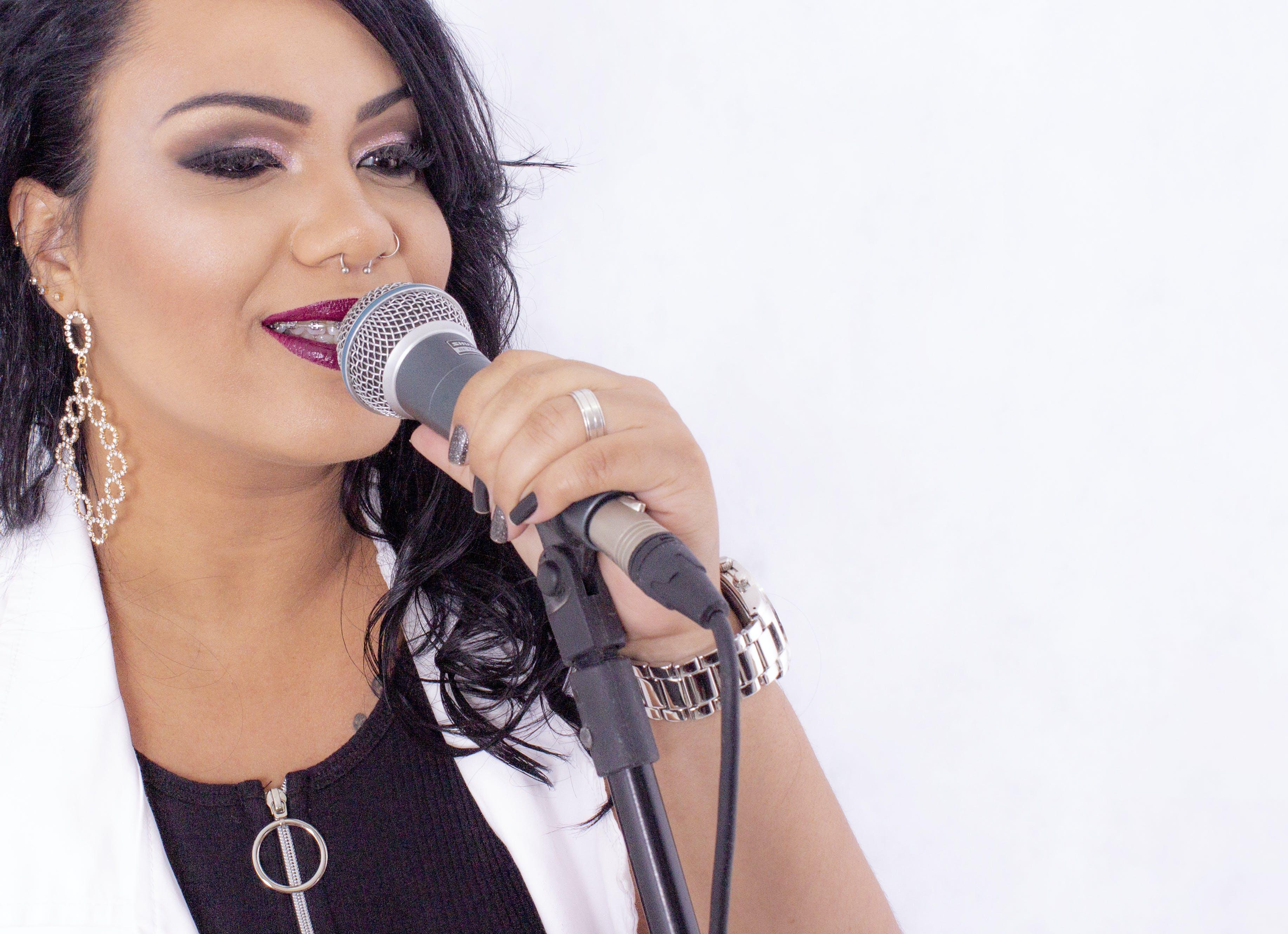 microphone, singer, woman singer