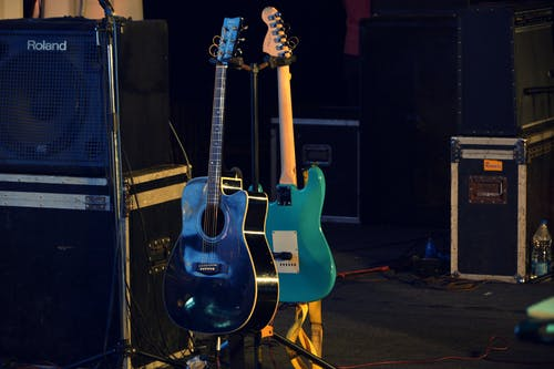 Free stock photo of concert venue, crowd, function, guitars