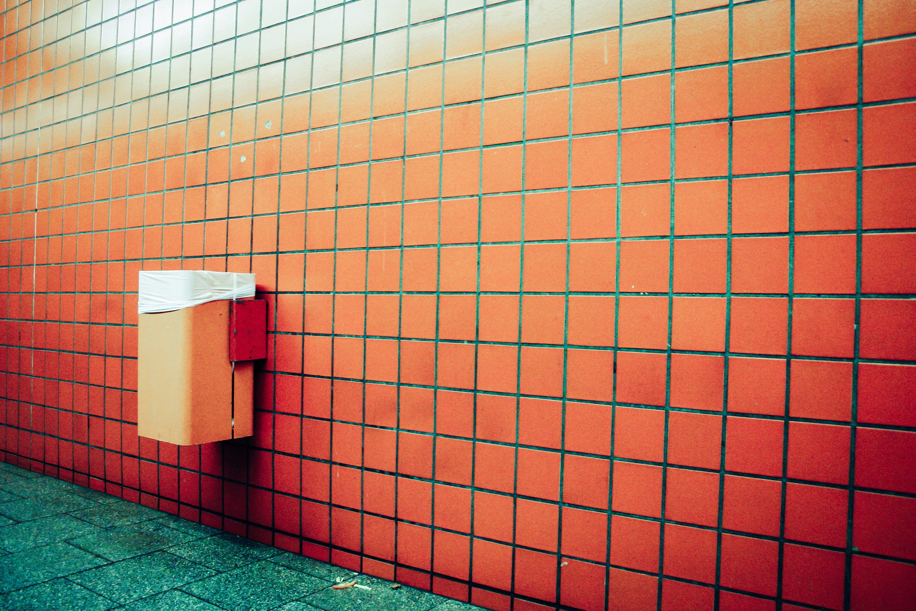 Free stock photo of wall, tiles, floor, garbage