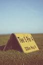 field, sign, grass