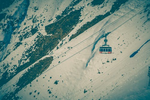Free stock photo of cable car, cold, cool, mountain
