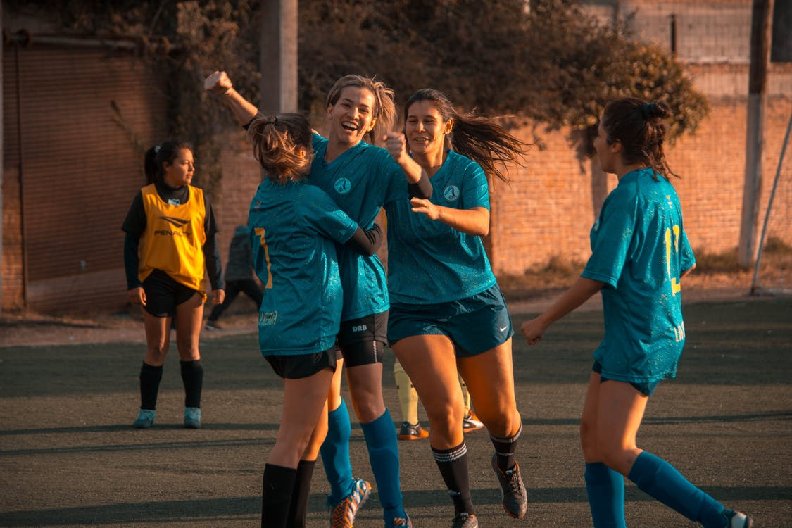 athleten, frauen, fußball