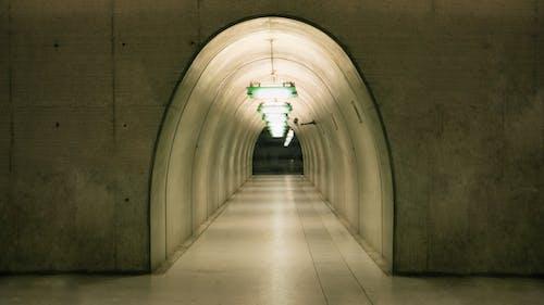 Free stock photo of architecture, asymmetry, concrete, corridor