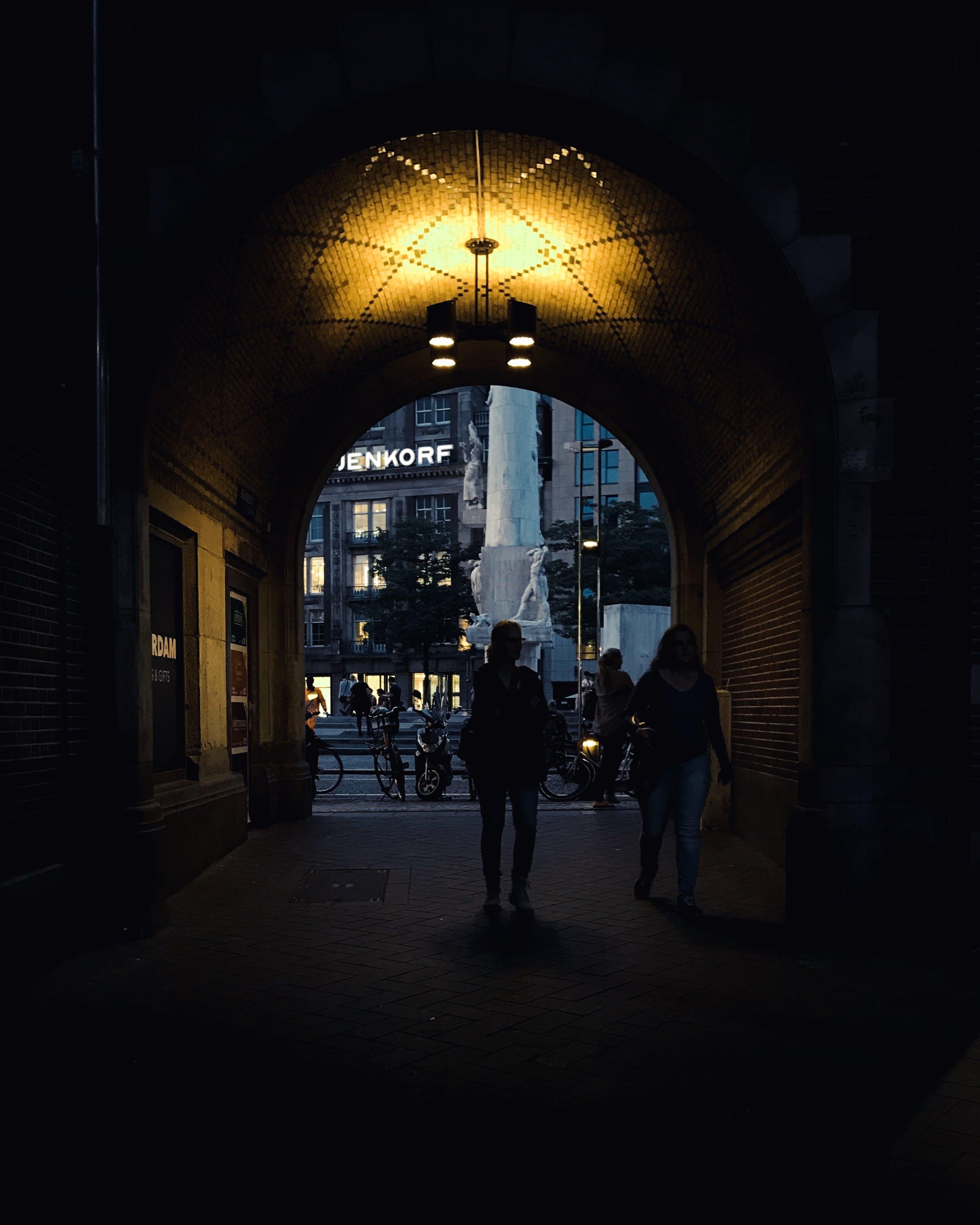 Free stock photo of amsterdam, arc, light, night