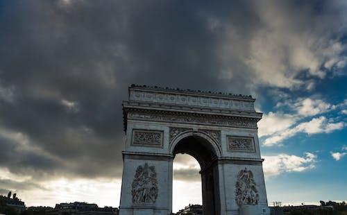 Immagine gratuita di arco di trionfo, francia, parigi