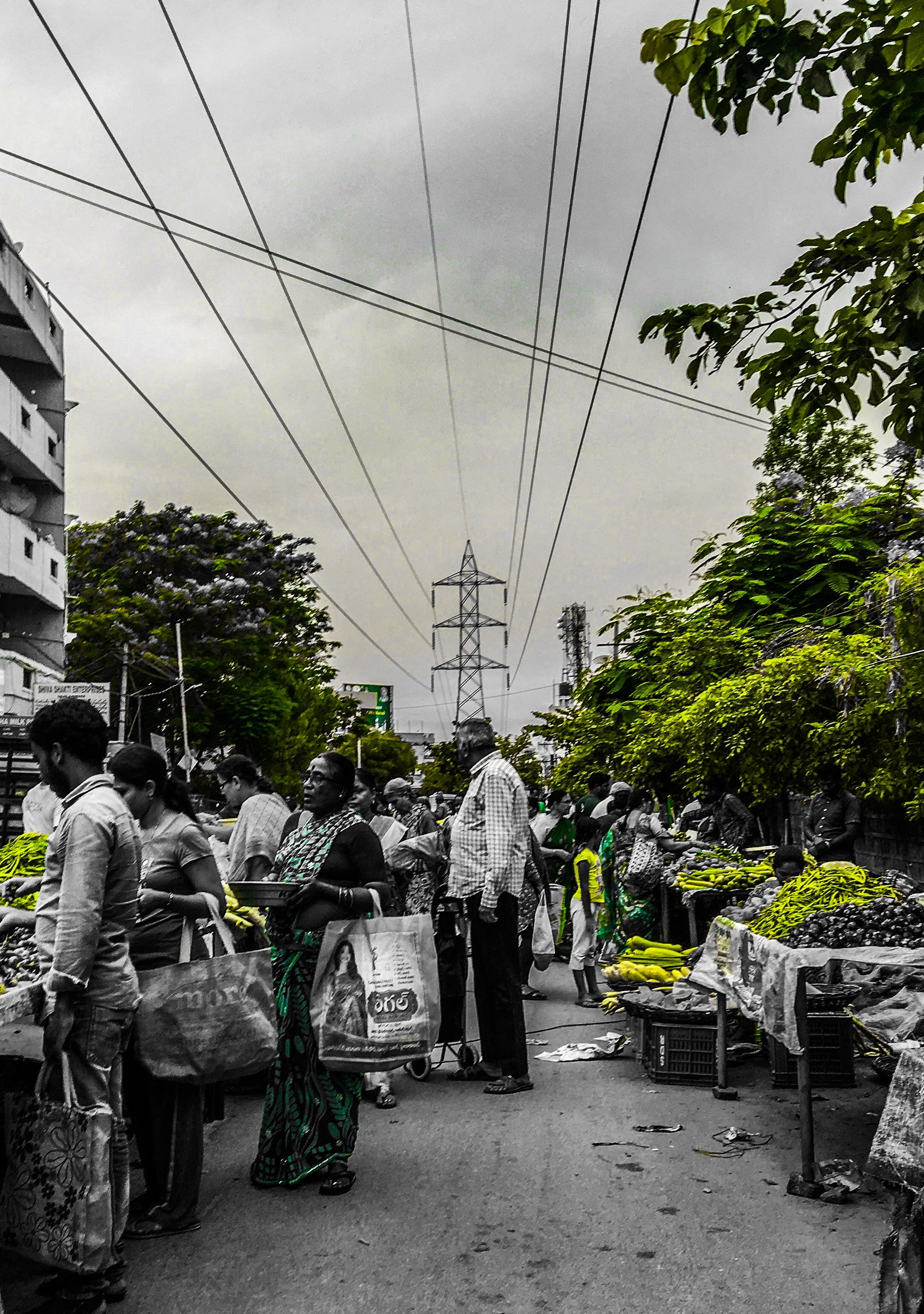 Free stock photo of #green, #india, color splash, farmers market