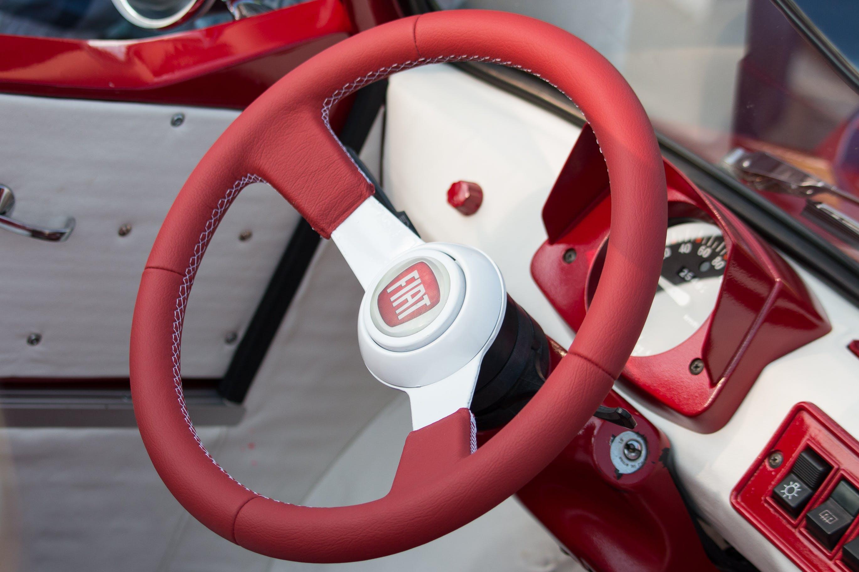 Free stock photo of car steering wheel, Fiat, fiat 126, steering wheel