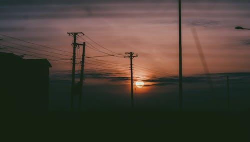 Fotos de stock gratuitas de África, amanecer, cables, electricidad