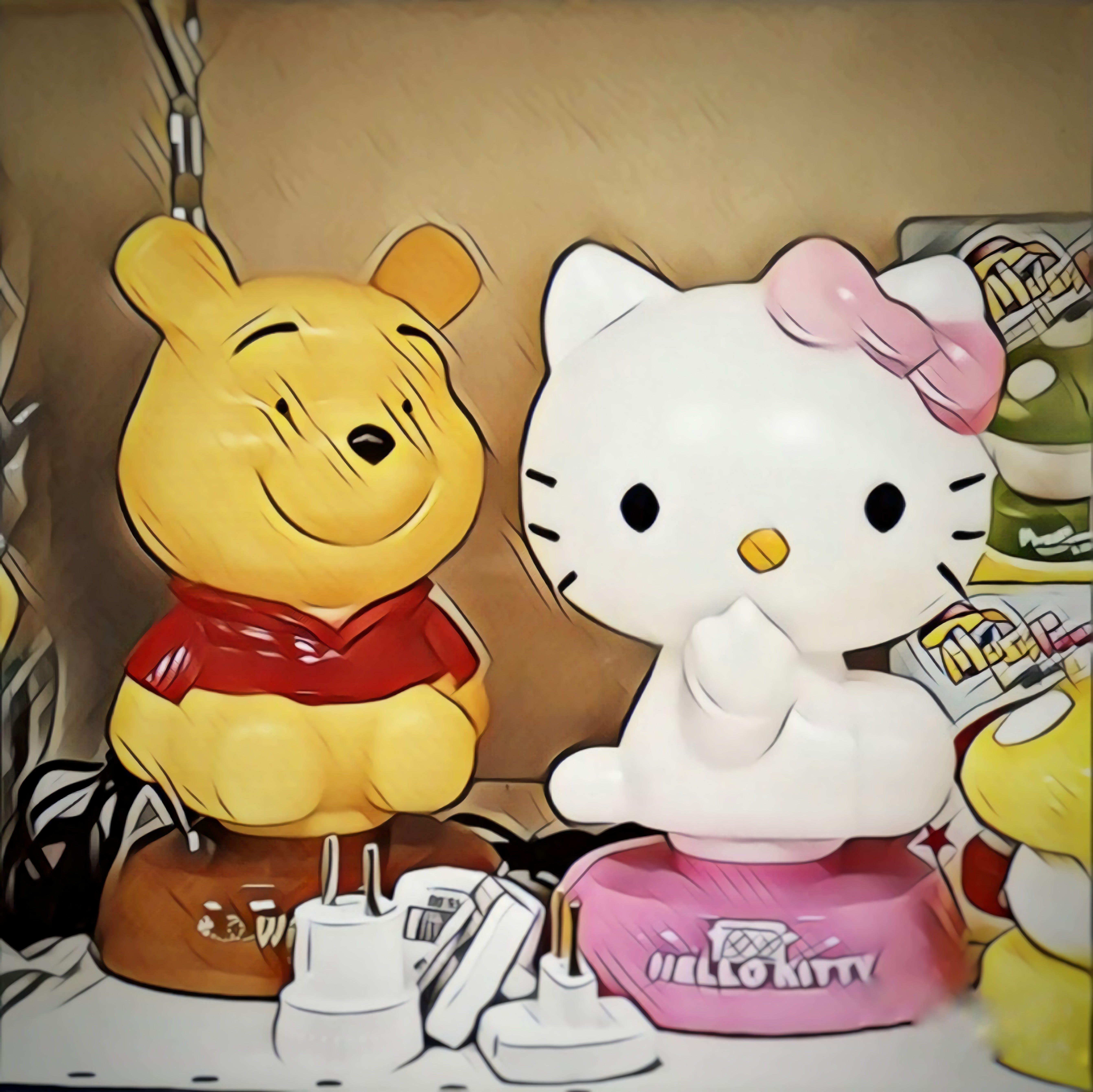 Free stock photo of art, bear, disney, hello kitty