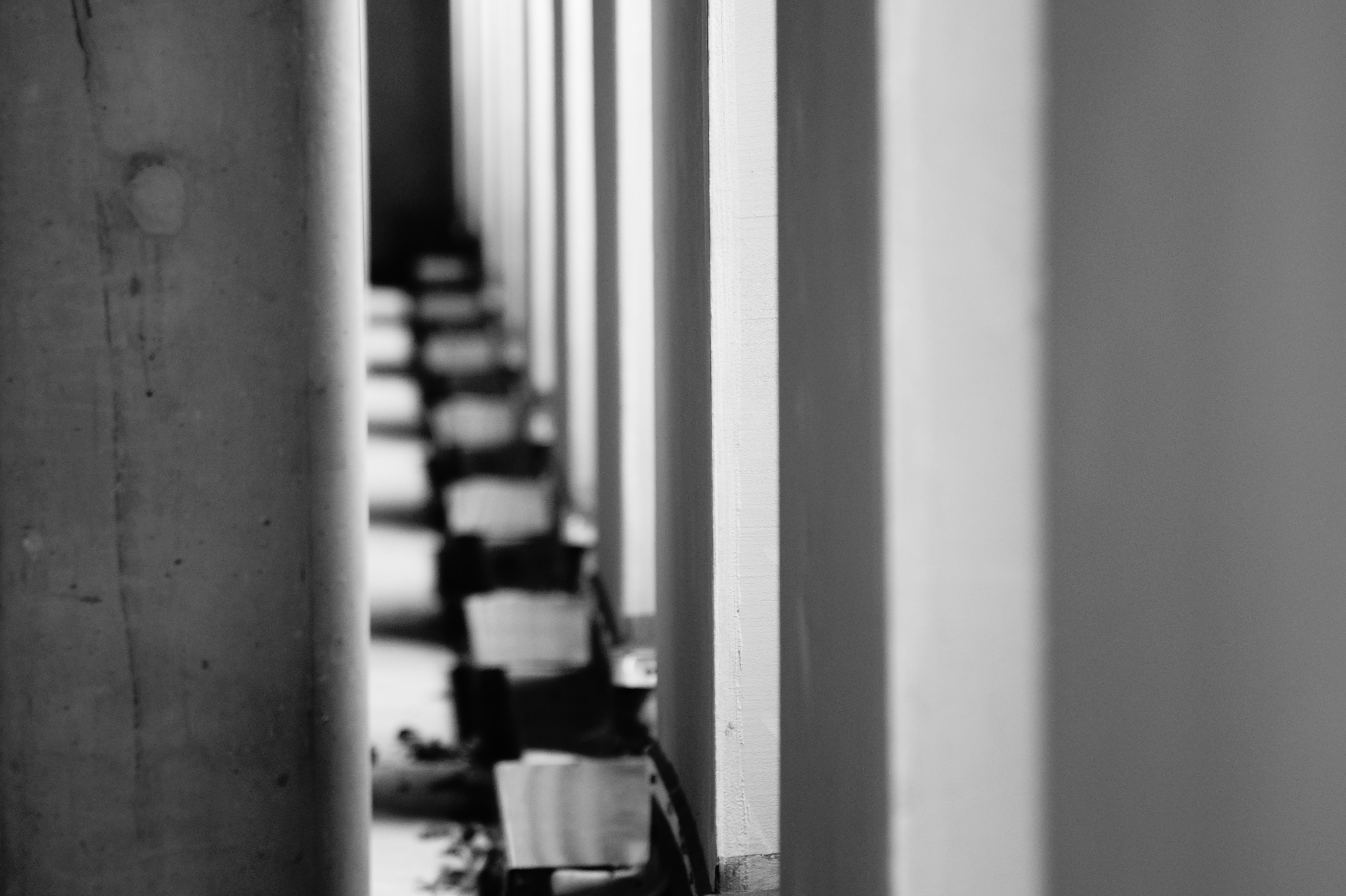 Free stock photo of black-and-white, lights, wall