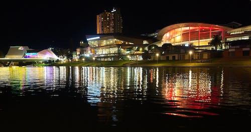 Free stock photo of bridge, city, convention center, night