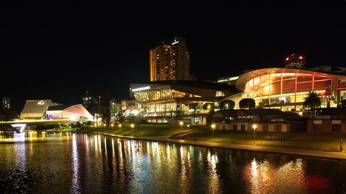 Free stock photo of bridge, city, night