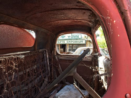 Free stock photo of Inside truck cab