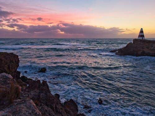 Free stock photo of coastal, obelisk, sunset