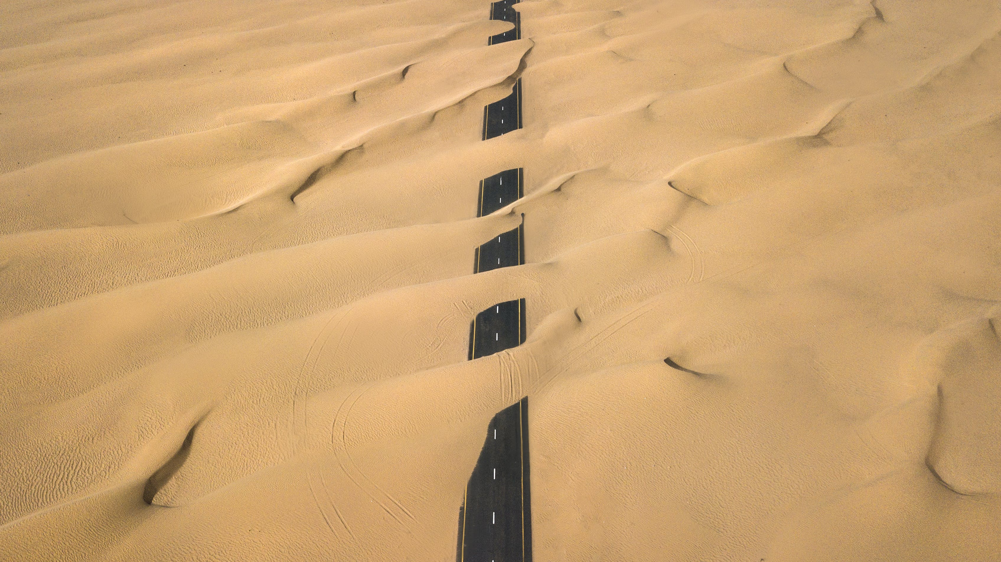 Road Covered With Sand