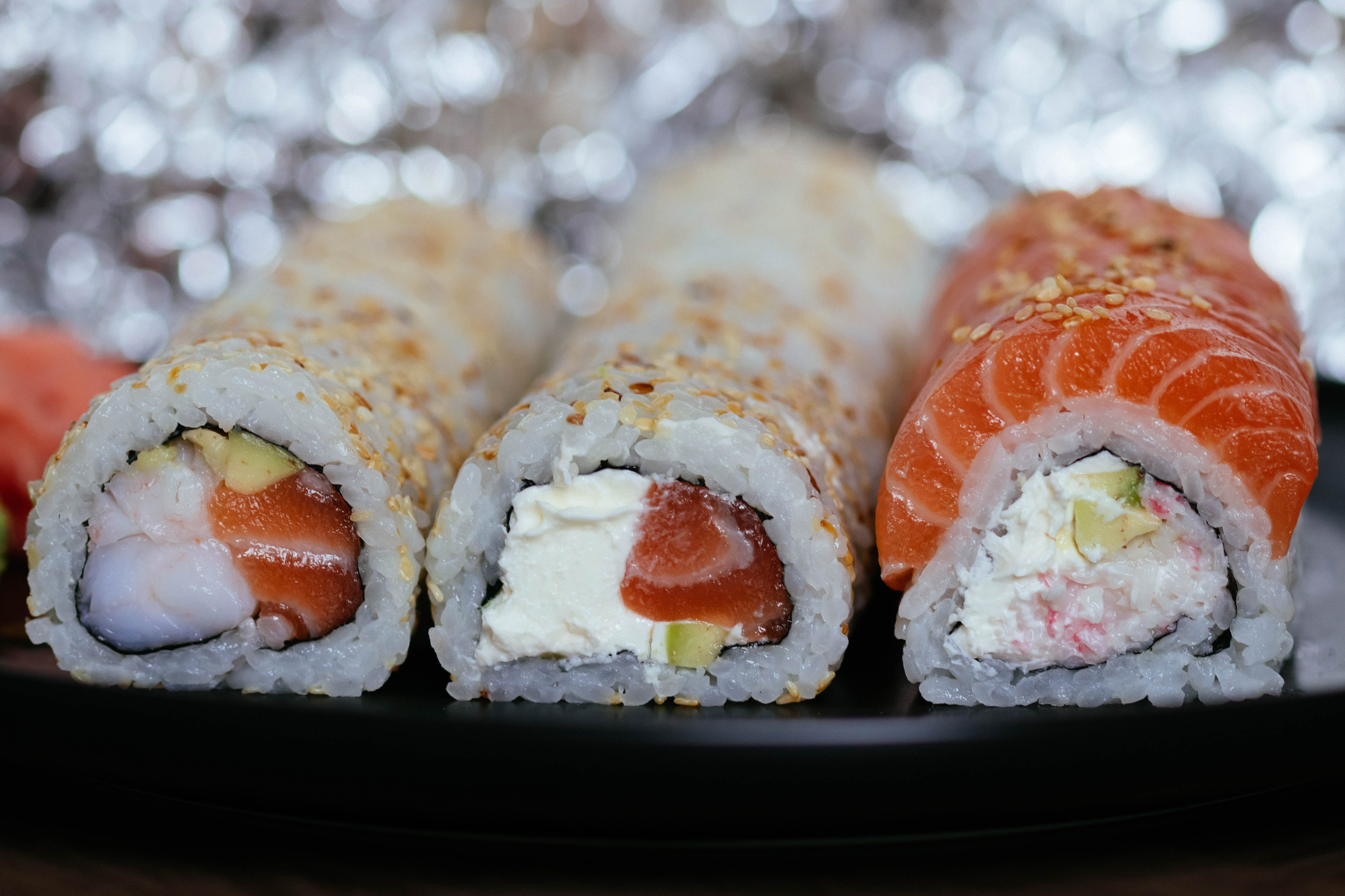 Close-up Photo of Sushi