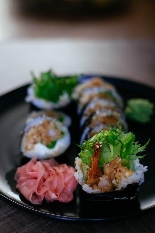 Δωρεάν στοκ φωτογραφιών με maki, sashimi, wasabi, γαρίδα