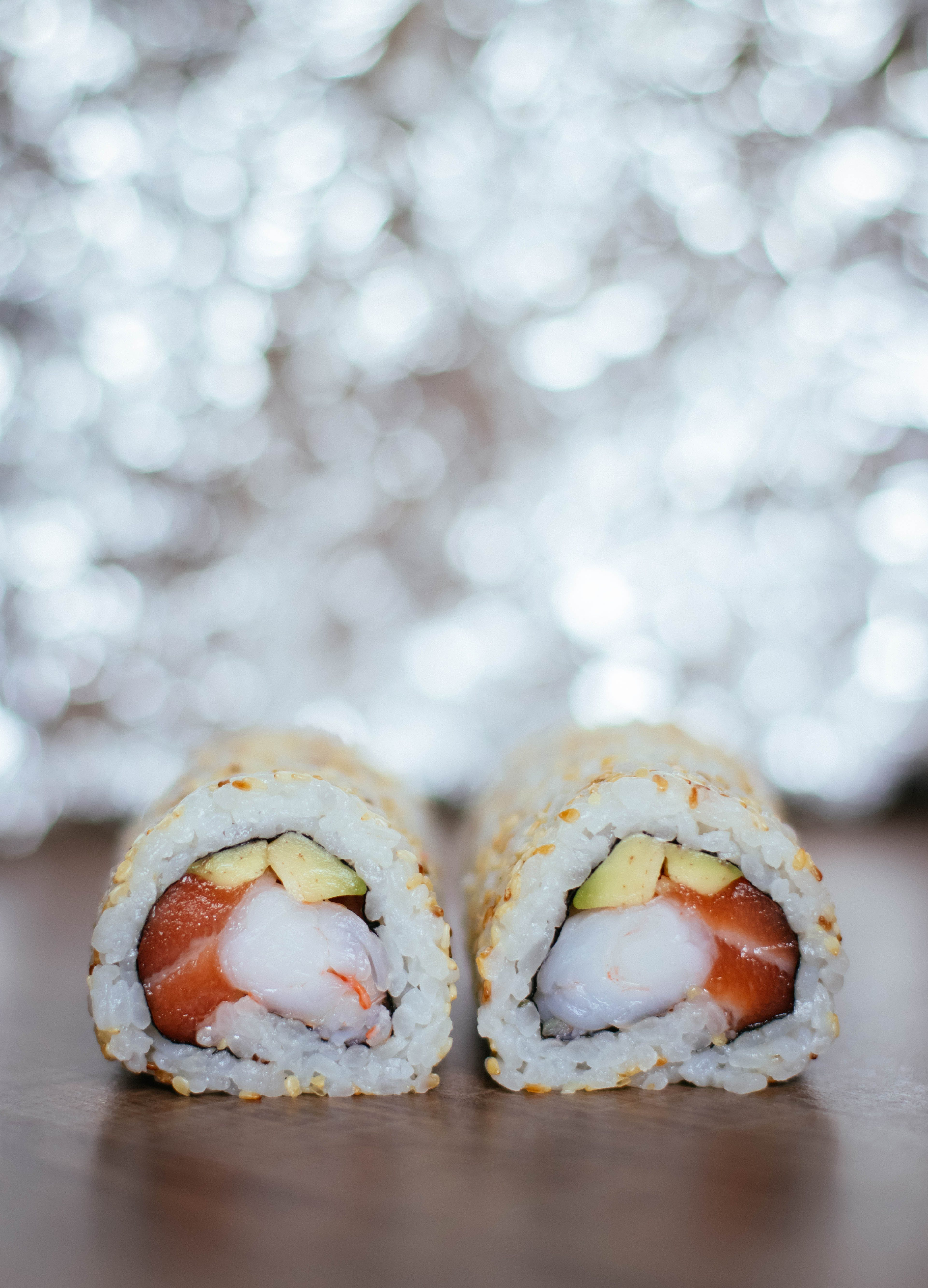 Closed Up Photography of Sushi Roll