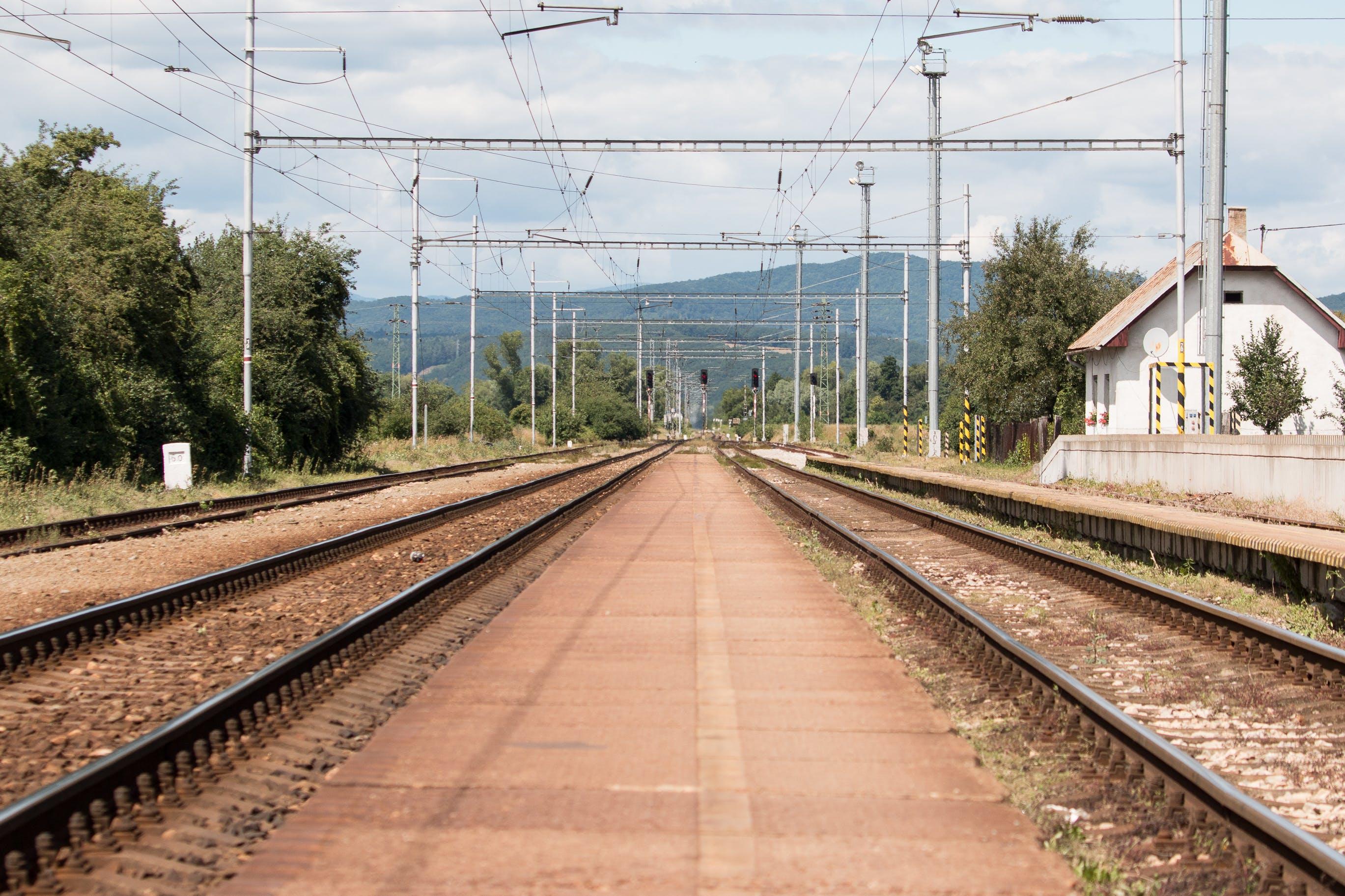 Free stock photo of metals, railway