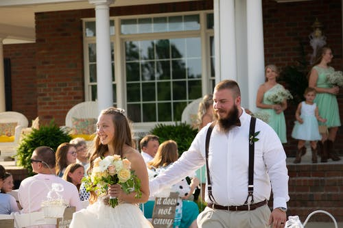 Free stock photo of candid, flowers, marriage, southern