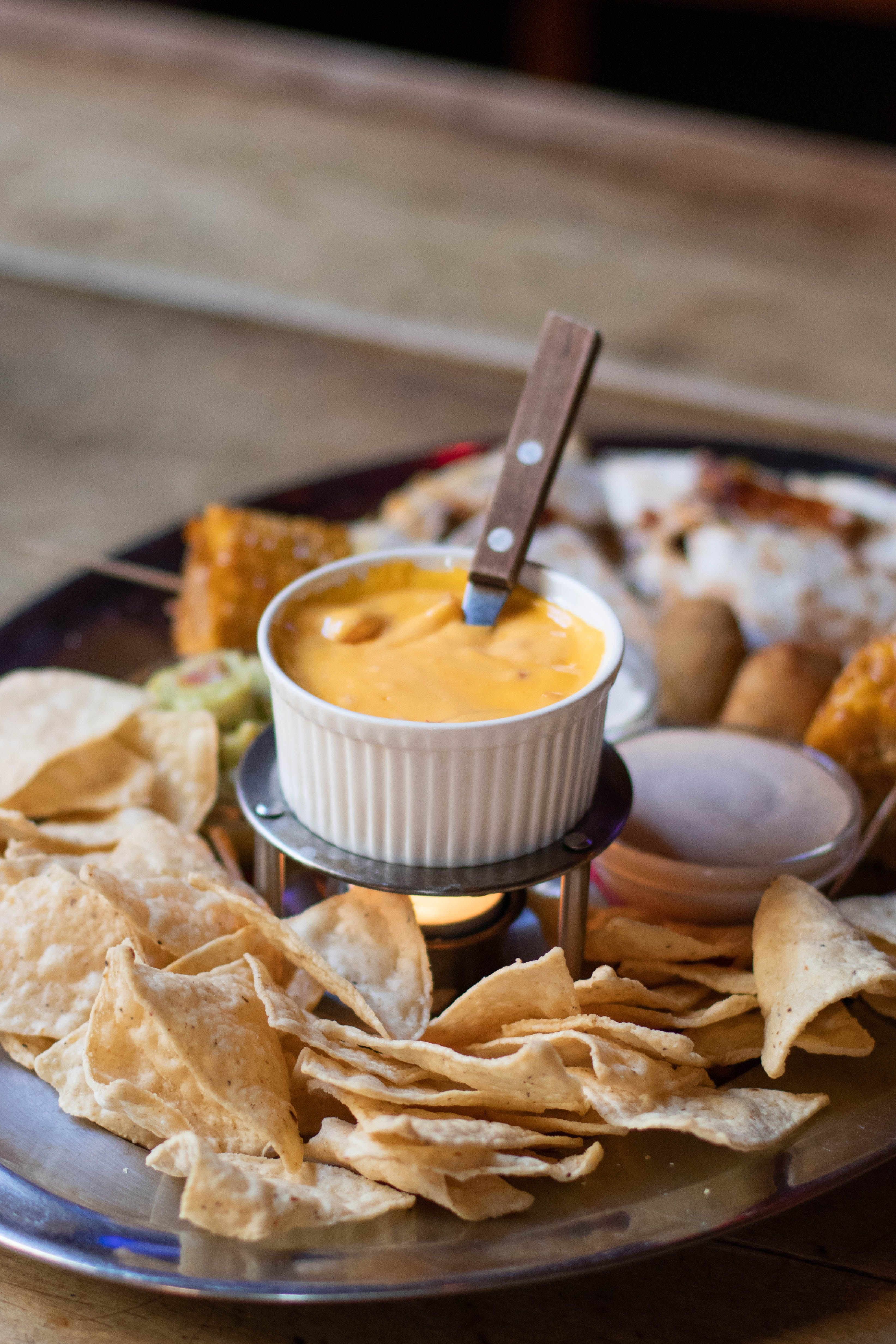 Tray of Chips With Cream
