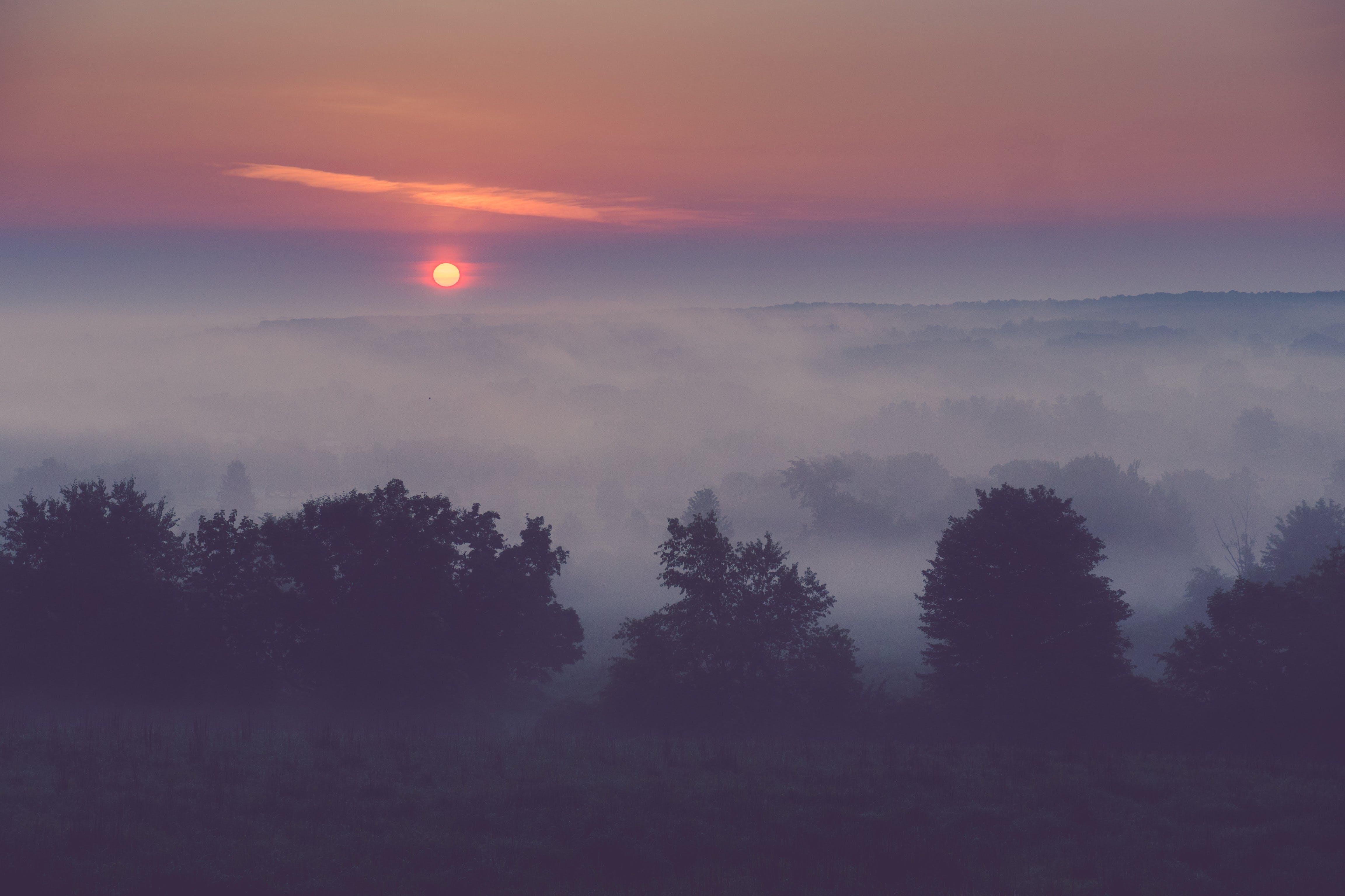 Kostenloses Stock Foto zu landschaft, sonne, sonnenaufgang, morgen