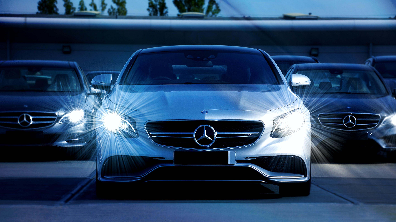 White Mercedes Benz Cars Free Stock Photo