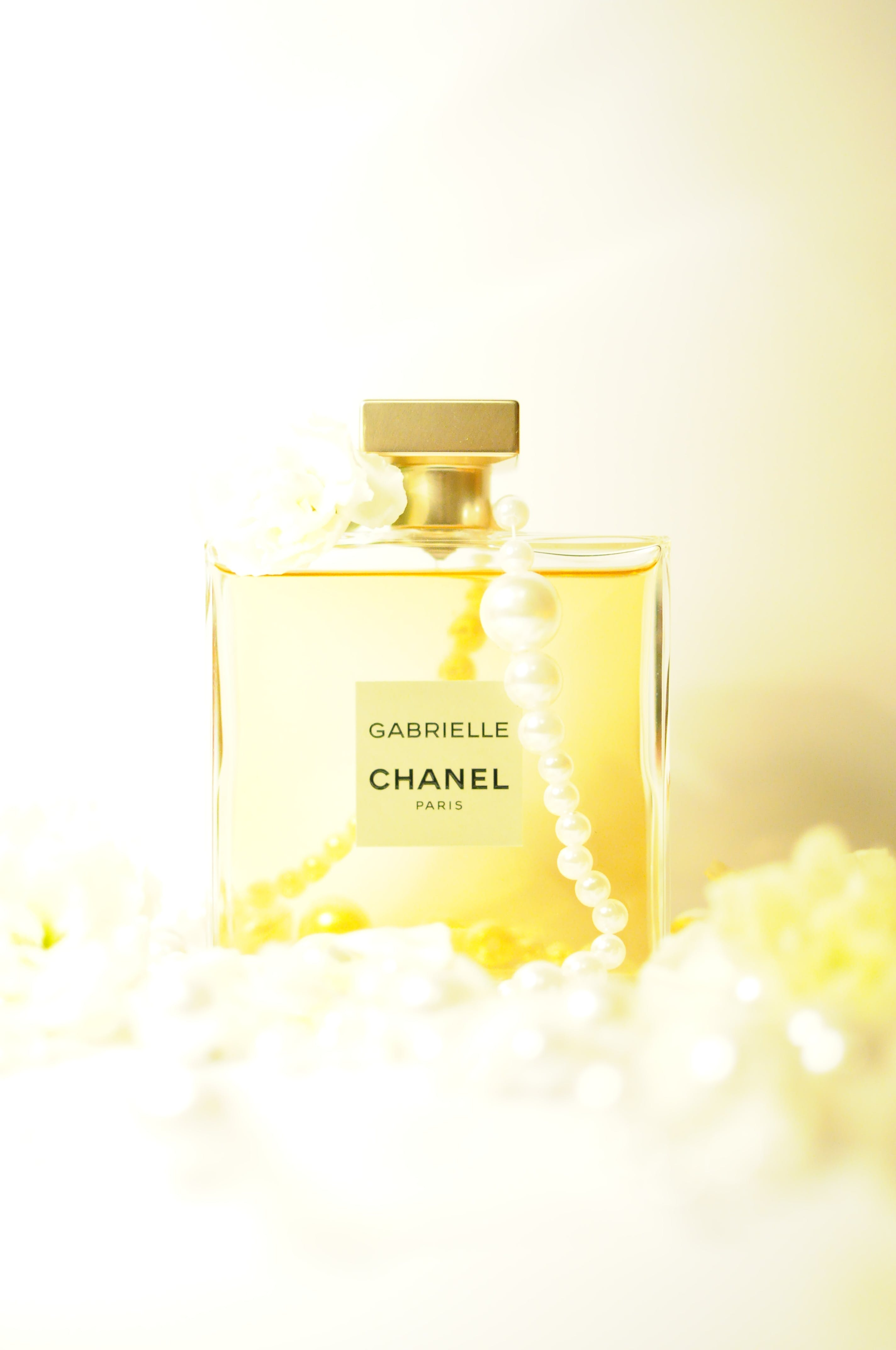 Chanel Garrielle Bottle Covered With Beaded Necklace