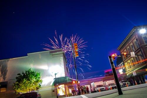 Free stock photo of downtown, fireworks, jupiter, long exposure
